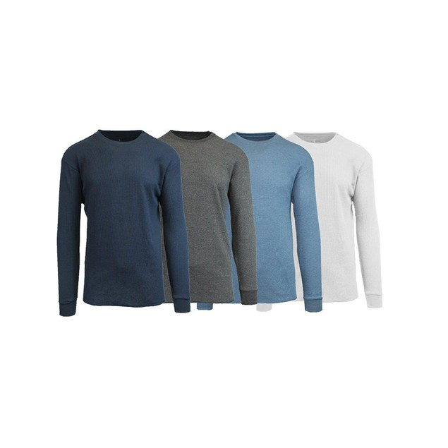 4-Pack: Men's Galaxy by Harvic Waffle Knit Thermal Shirts