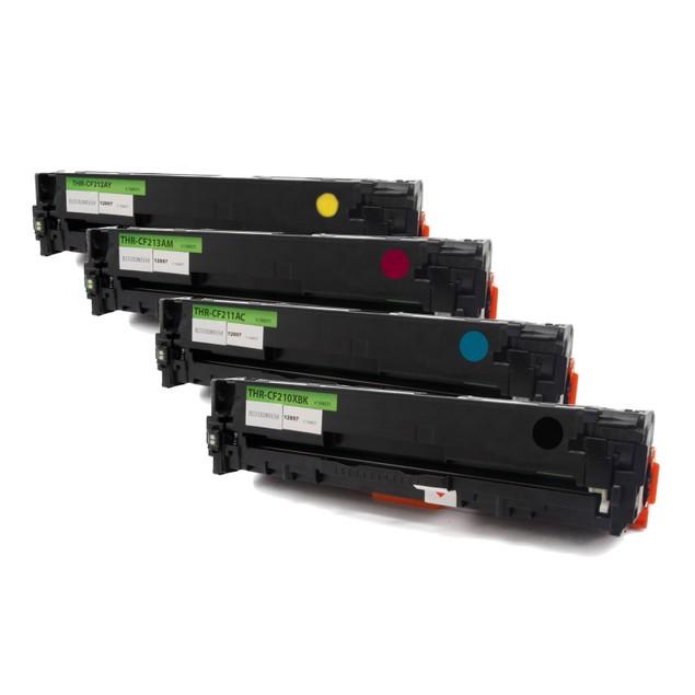 HP 131X/CF210 Compatible Toner 4-Pack