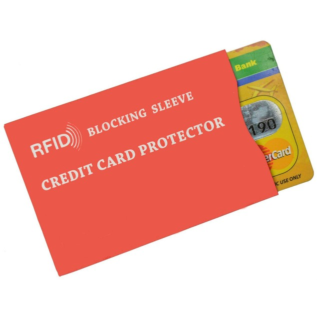 5-Pack RFID Identity Theft Protection Credit Card Sleeves
