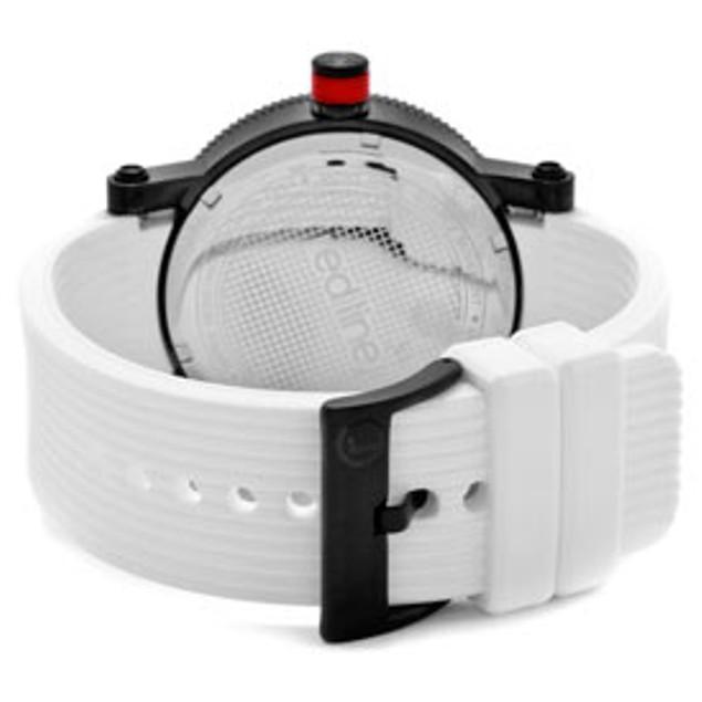 Red Line Men's Compressor White Dial White Silicone