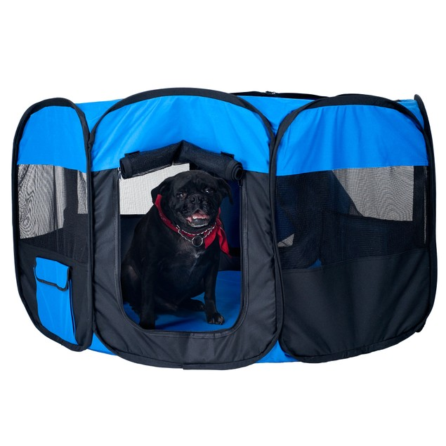 Pet Pop-Up Playpen Deluxe with Canvas Carrying Bag