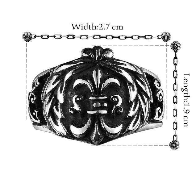 English Shield Emblem Stainless Steel Ring