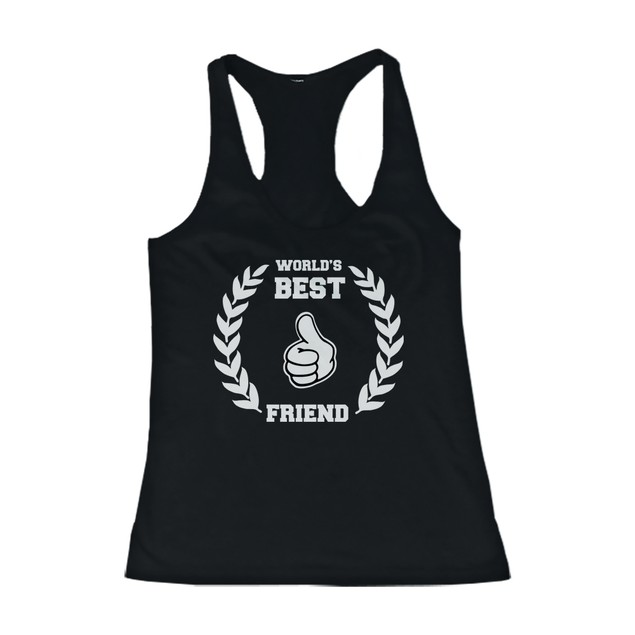 BFF Tank Tops World's Best Friend Matching Shirts for Best Friends