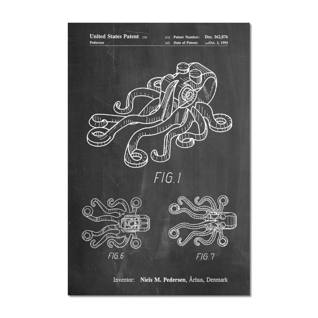 Lego Octopus Patent Poster