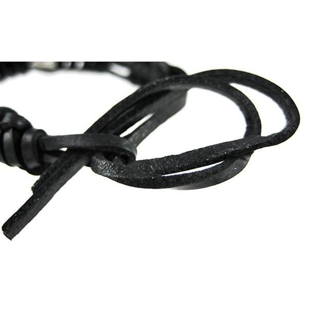 Adjustable Braided Black Nylon Cord Bracelet W/ Mens Cord Bracelets