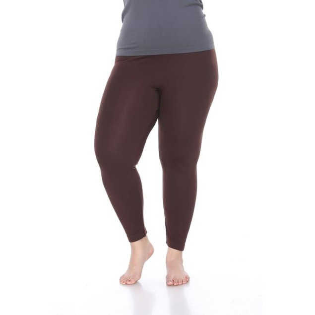 Women's Plus Size Super-Stretch Solid Leggings