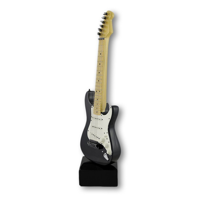 Black And White Electric Guitar Statue Statues