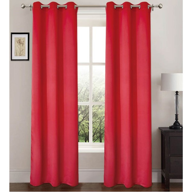 """2-Pack Energy-Saving 37"""" x 84"""" Curtains with Metal Grommets"""