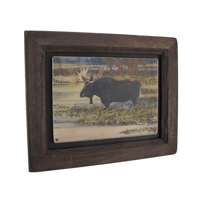 Big Sky Carvers North American Moose Wood Frame Decorative Plaques