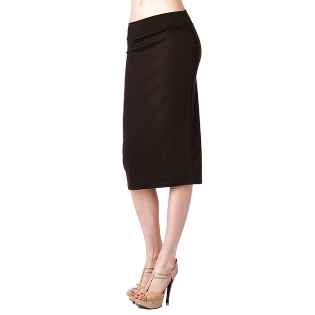 Ladies Ponte Roma Casual to Office Wear Pencil Skirt