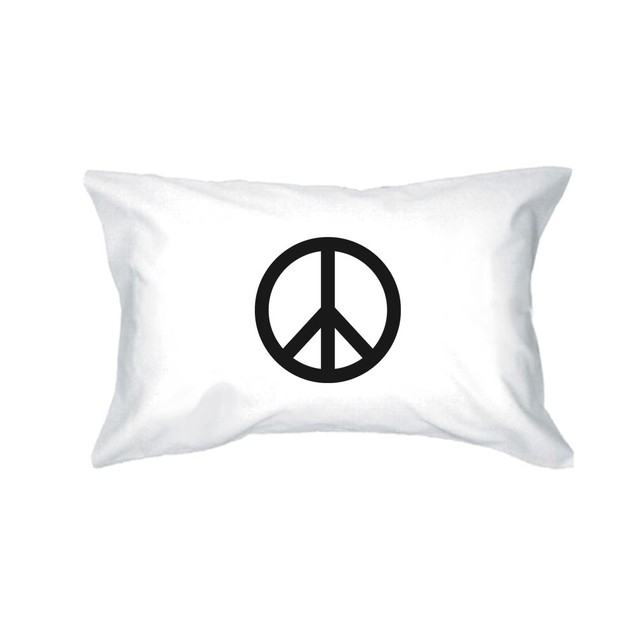 Bed Peace and Peace Symbol Funny Pillowcases