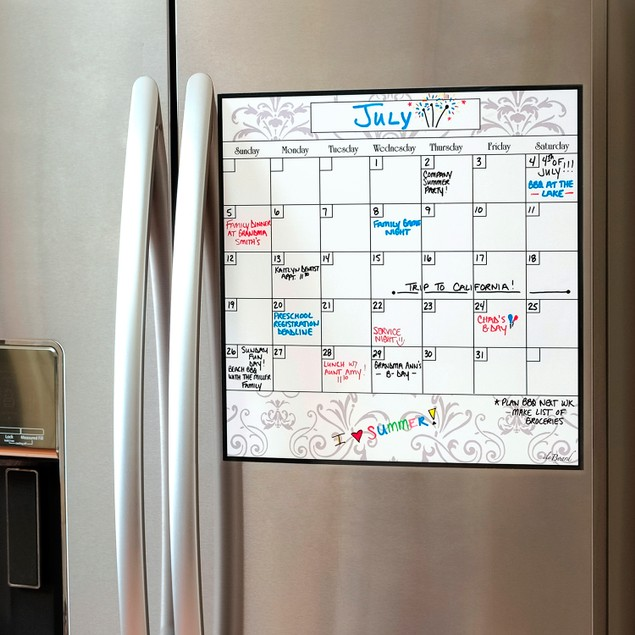 Monthly Calendar Magnet (15.5 x 15.5) - 4 Colors