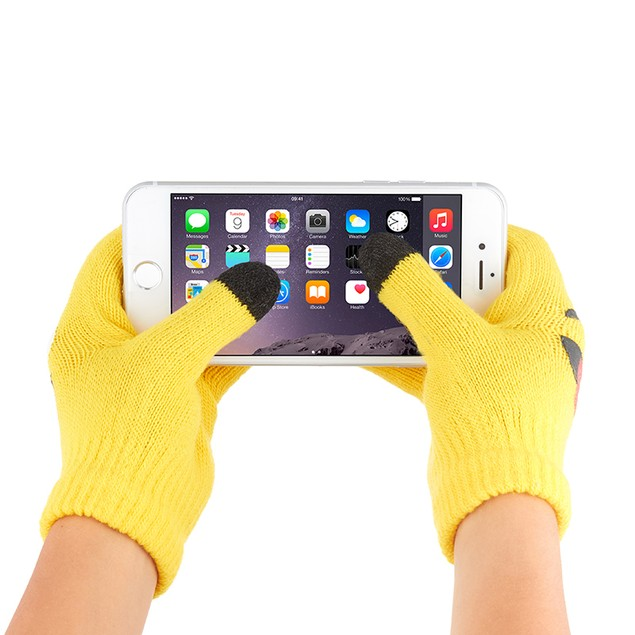 6-Pack Kids Unisex 3 Finger Emoji Touch Screen Gloves
