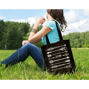Arrow Black Tote Bag