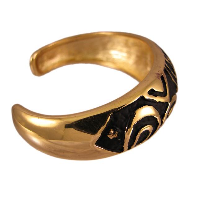 Goldtone & Enamel Leopard Spot Cuff Bracelet Womens Cuff Bracelets