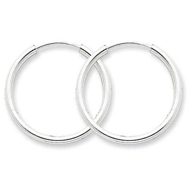 Italian-Made 20mm Sterling Silver Hoop Earrings