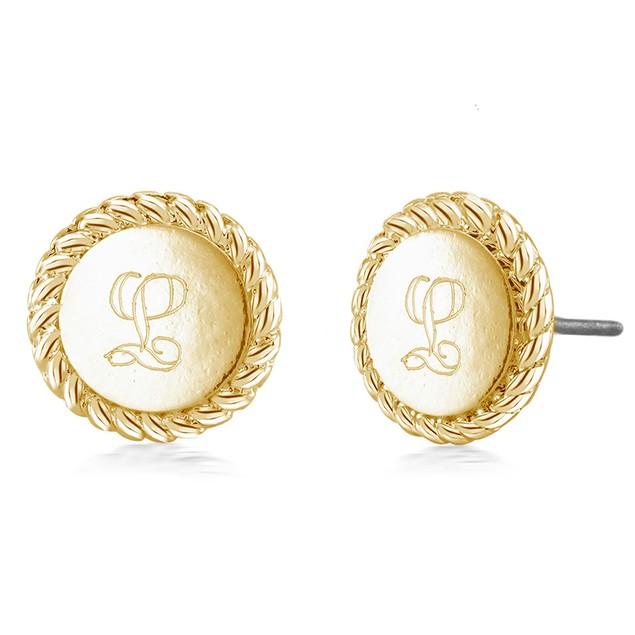 Personalized Braided Letter Earrings