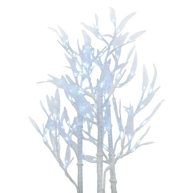 96 Led Light Bamboo Tree Home Decor White Leds Artificial Flowers