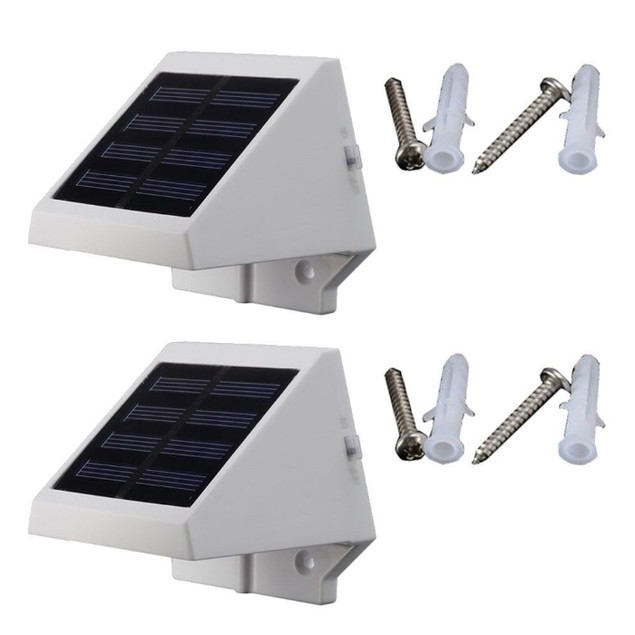 2-Pack Solar Wall Lights