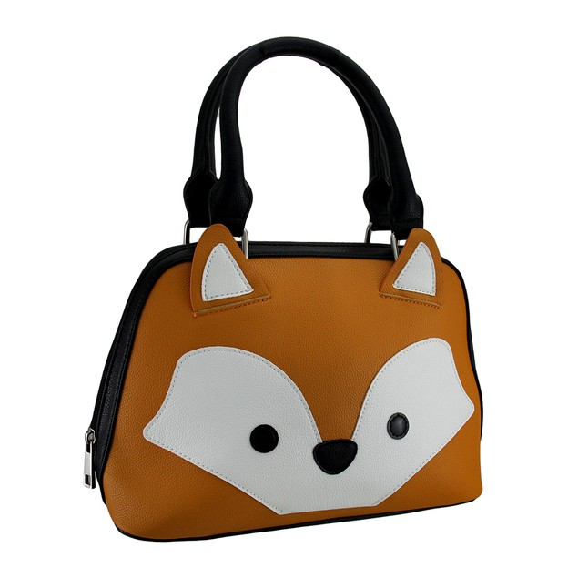 In Your Fox Face Orange Satchel Handbag Womens Shoulder Handbags