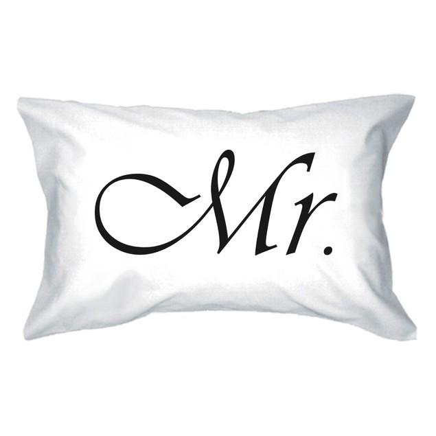 Classy Mr and Mrs Matching Pillowcase