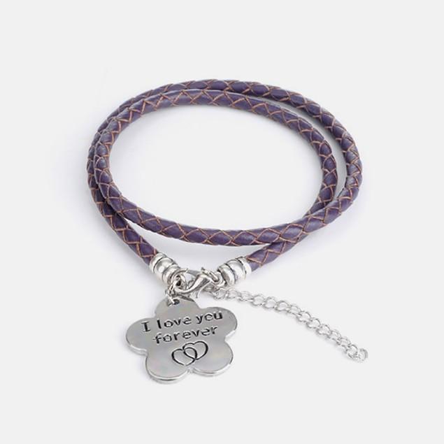 I Love you Forever - Hand Stamped Bracelet