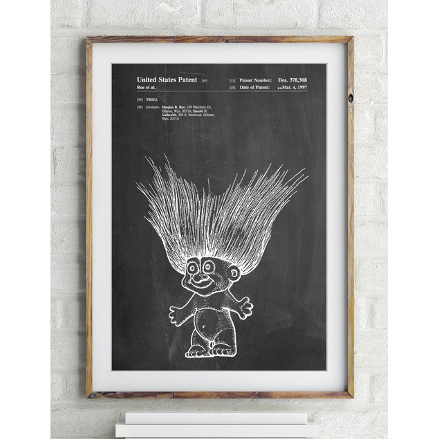 Troll Doll Patent Poster