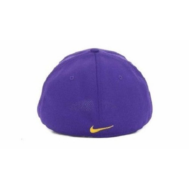 "LSU Tigers NCAA Nike ""Cool Ever"" Flex Mesh Swoosh Flex Fitted Hat"