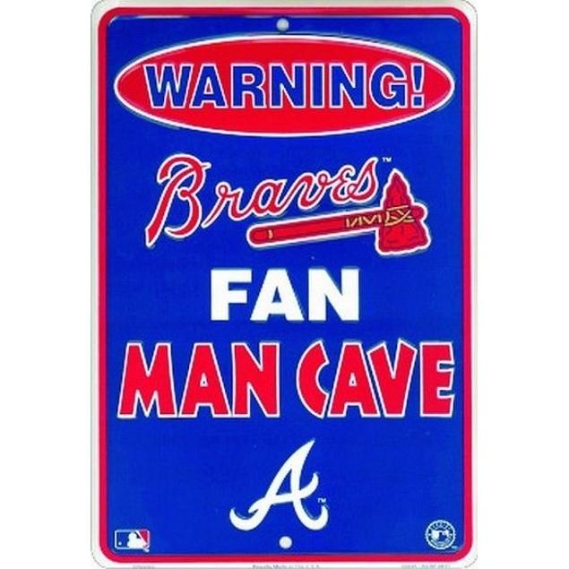Atlanta Braves MLB Fan Man Cave Parking Sign