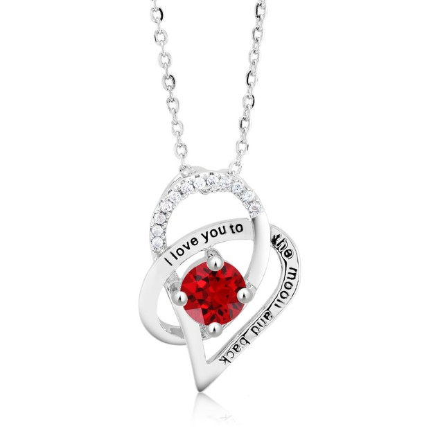 I Love You to the Moon and Back Crystal Necklace - 3 Colors