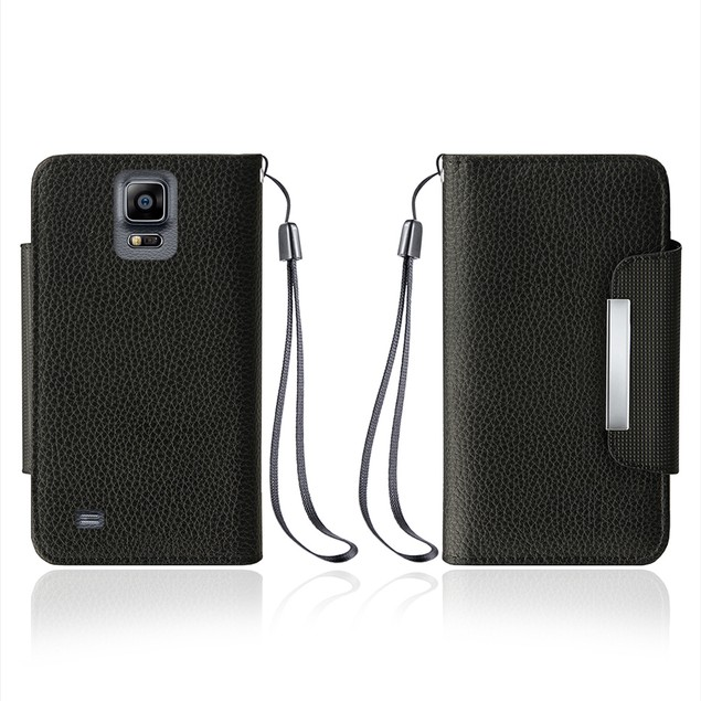 Leather Wallet Case With Clip for Samsung Galaxy Note 4