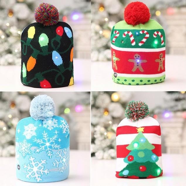 LED Holiday Beanie- 4 Styles