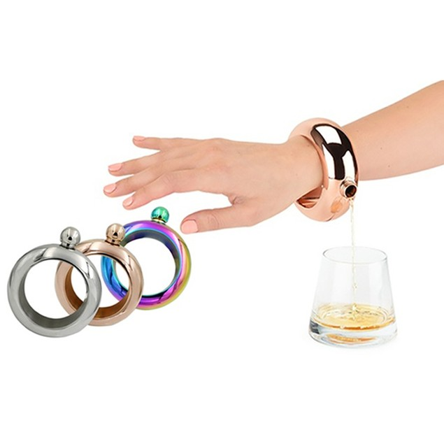 Stainless Steel Portable Bracelet Flask 3.5oz