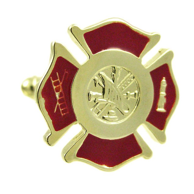 Stainless Steel Firefighter Cuff Links Cufflinks Mens Cuff Links