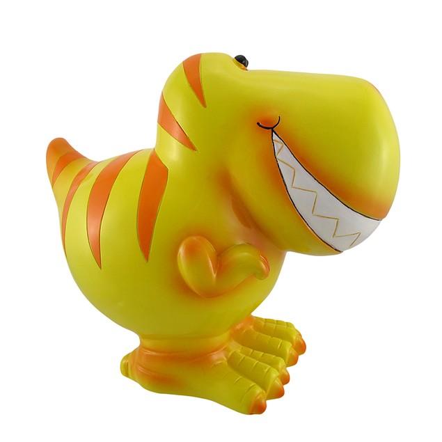 Children`S Jumbo Yellow T-Rex Dinosaur Coin Bank Toy Banks
