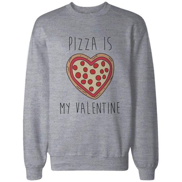 Funny Valentine Graphic Sweatshirt– Pizza Is My Valentine Pullover Sweater