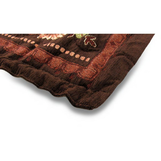 Brown Floral Josephine Tapestry Wall Hanging W/Rod Tapestries