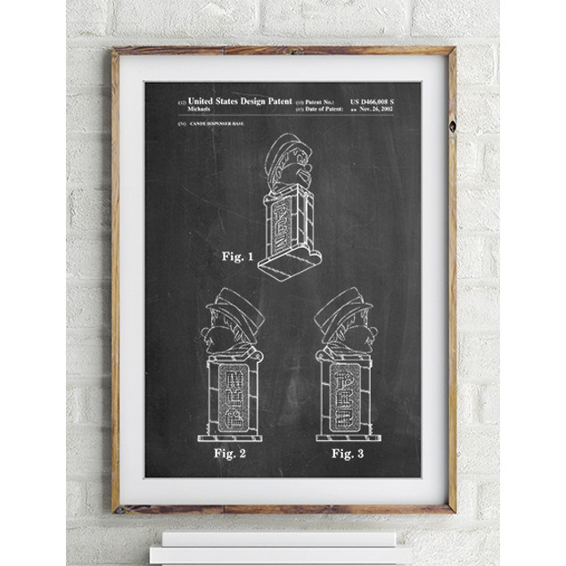 Pez Dispenser Patent Poster