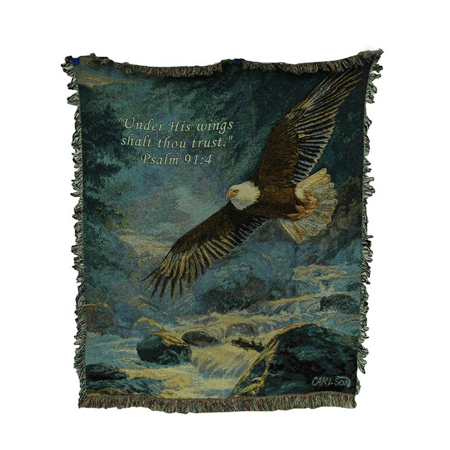 American Majesty 50 X 60 Eagle Tapestry Throw Throw Blankets
