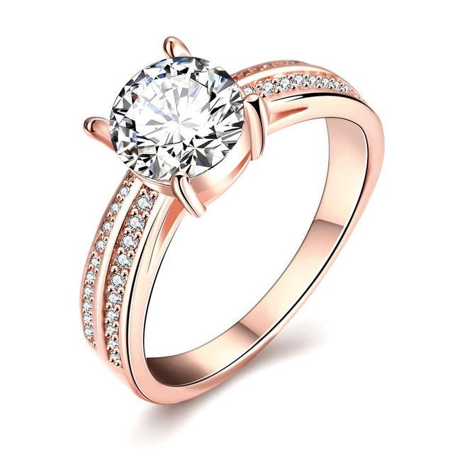 Rose Gold Plated Madison Ave Inspired Ring
