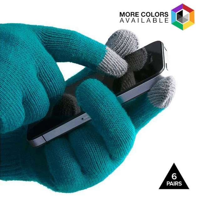 6 Pairs: Unisex Touchscreen Ultra-Soft Gloves