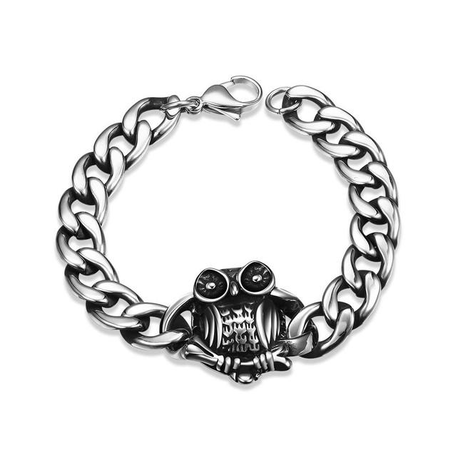 Emblem Piece Stainless Steel Bracelet