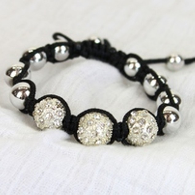 Tri-Pave Tensor Crystal Bracelet