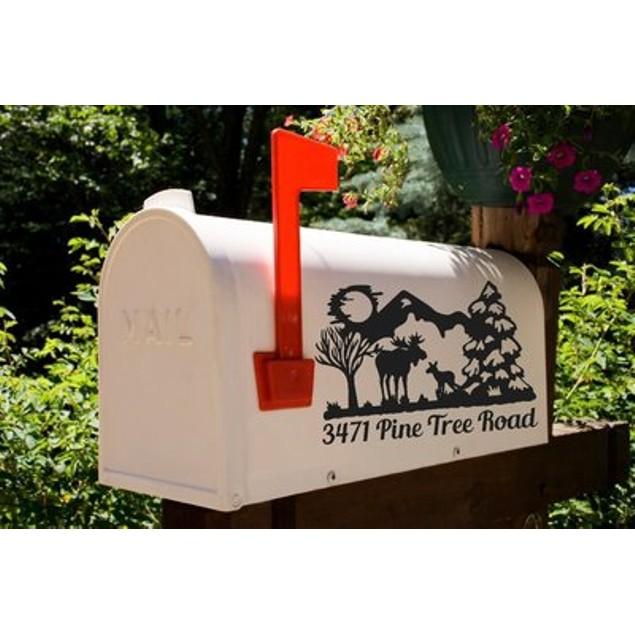 Moose Vinyl Mailbox Decal