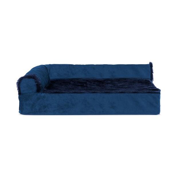 Plush & Velvet Deluxe Chaise Lounge Orthopedic Sofa-Style Pet Bed