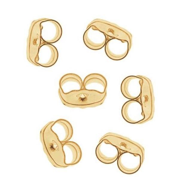 14k Gold Non-Tarnish Earring Backings - 3 Colors
