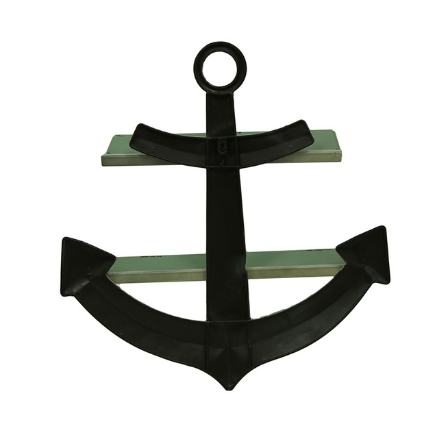 Distressed Ship Anchor Decorative Metal Wall Shelf Wall Sculptures