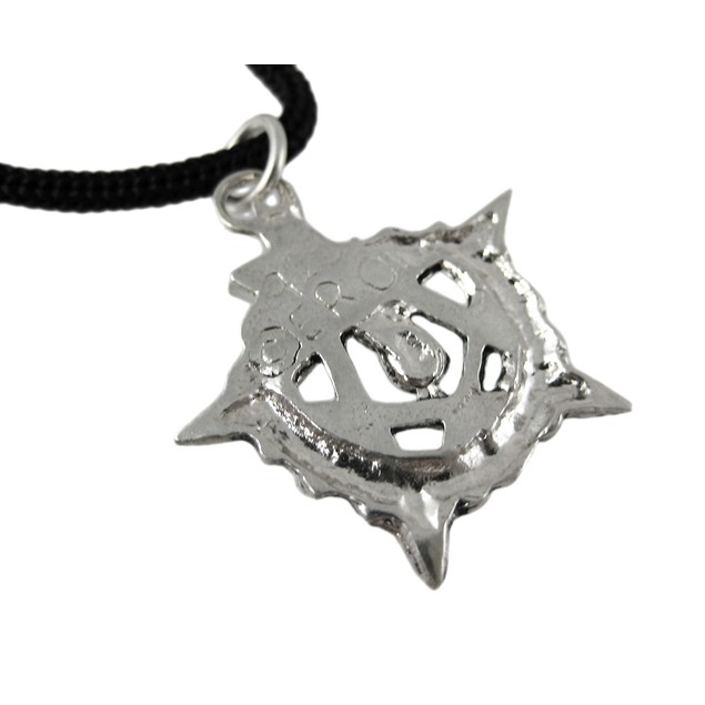 Ouroboros Pentagram Pendant W/ Cord Necklace Mens Pendant Necklaces
