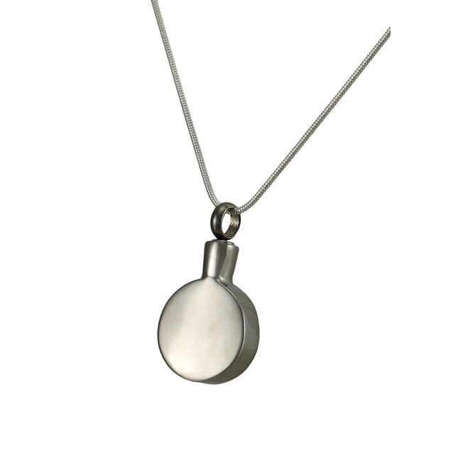 Stainless Steel Pagan Pentacle Keepsake Vial Womens Pendant Necklaces