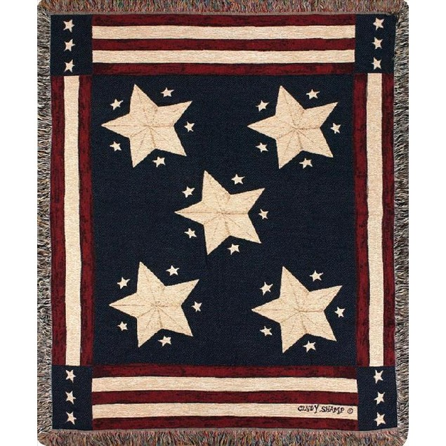 Long May It Wave American Flag Themed Tapestry Throw Blankets